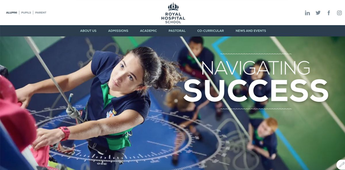 Royal Hospital School Navigates Website Success