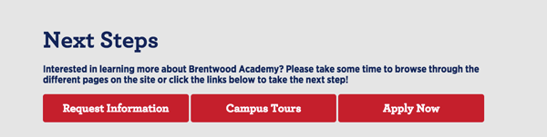 Brentwood Academy Next Steps