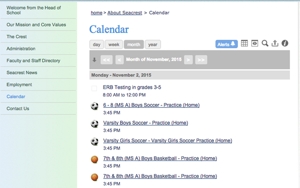 Seacrest Calendar