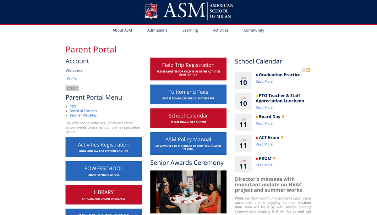 ASM Parent Portal