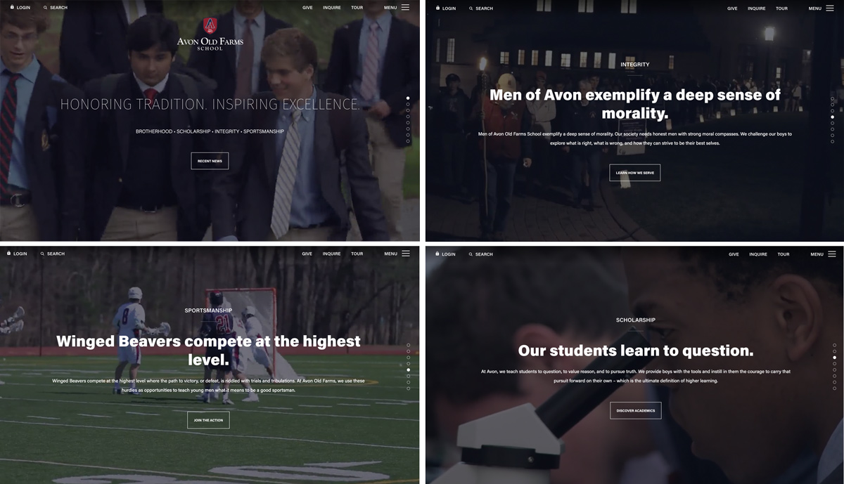 Avon's Scrolling Homepage