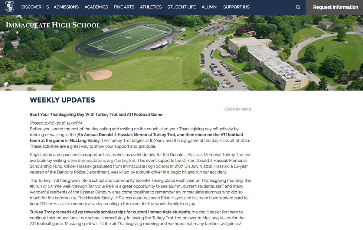IHS News Story Example