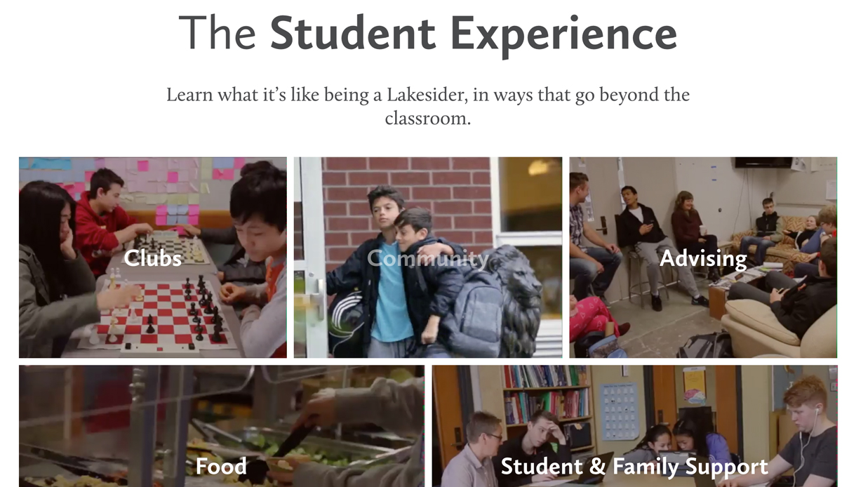 Lakeside - Student Experience