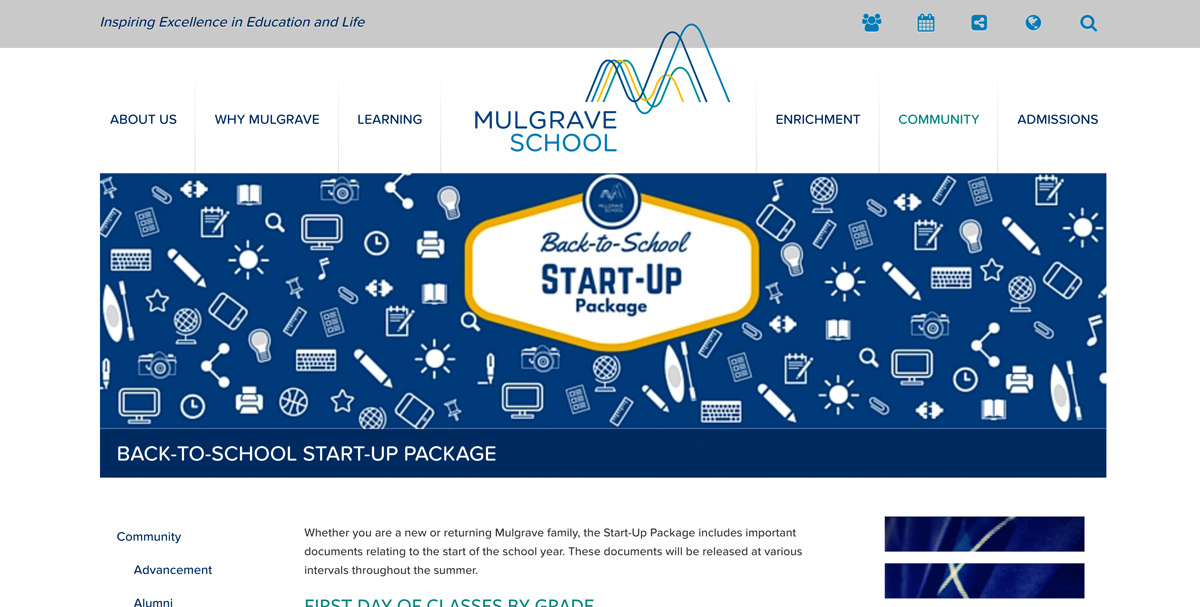 Mulgrave School Start Up Package