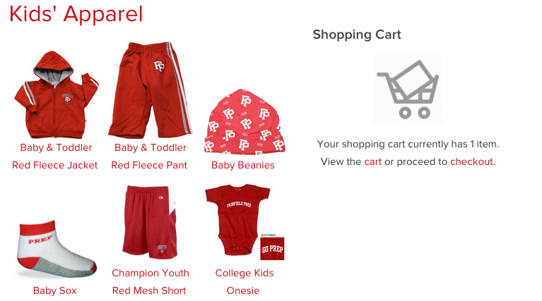 Kids Apparel to Purchase