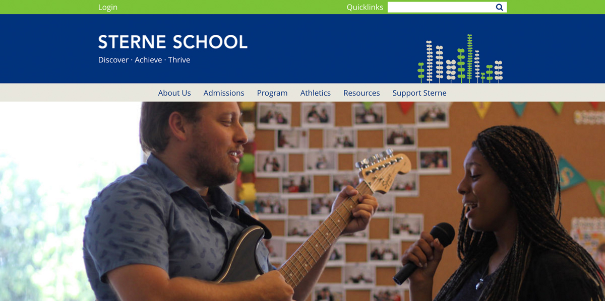 The Sterne School Responsive Design
