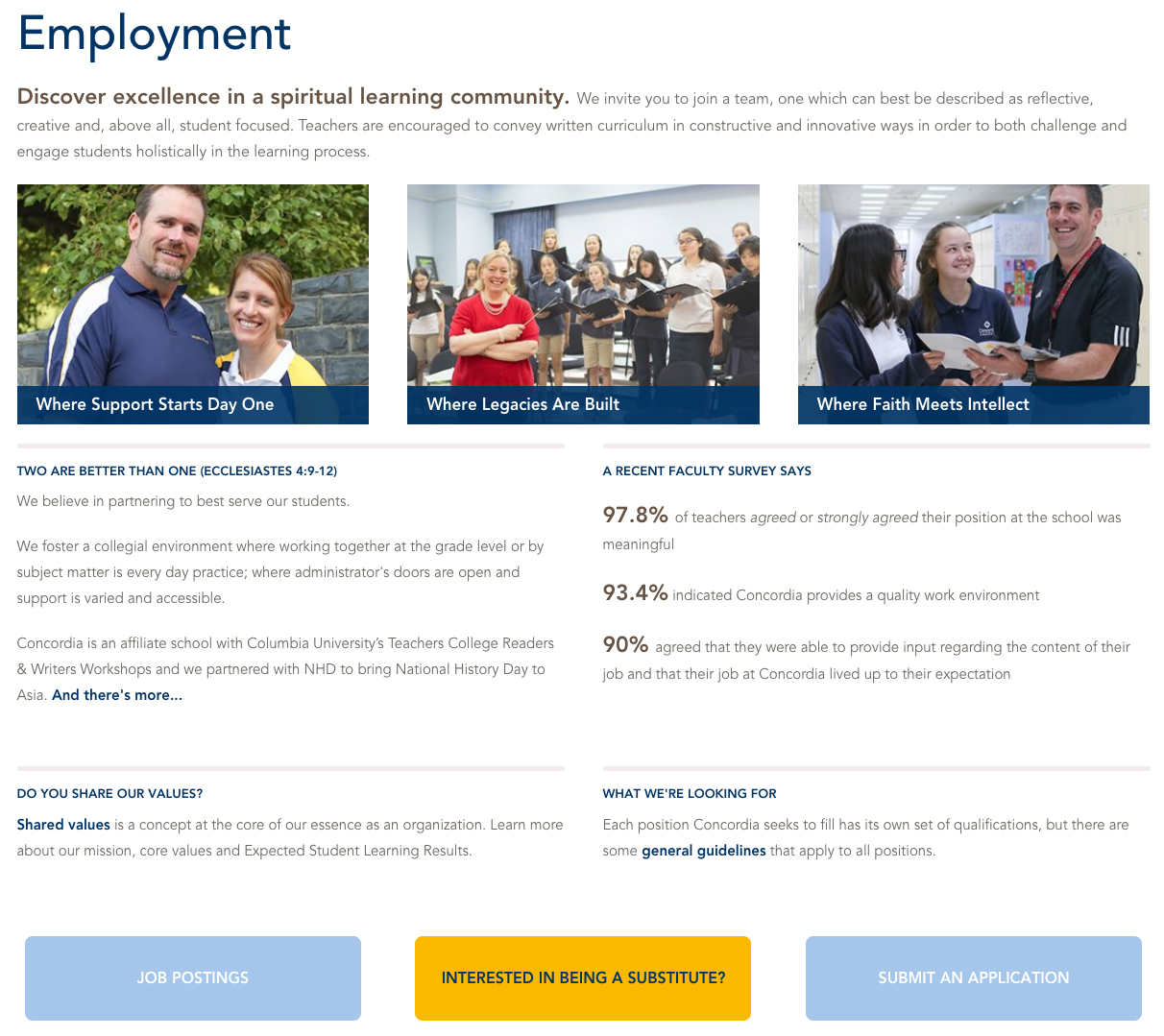 Faculty Recruitment Landing Page