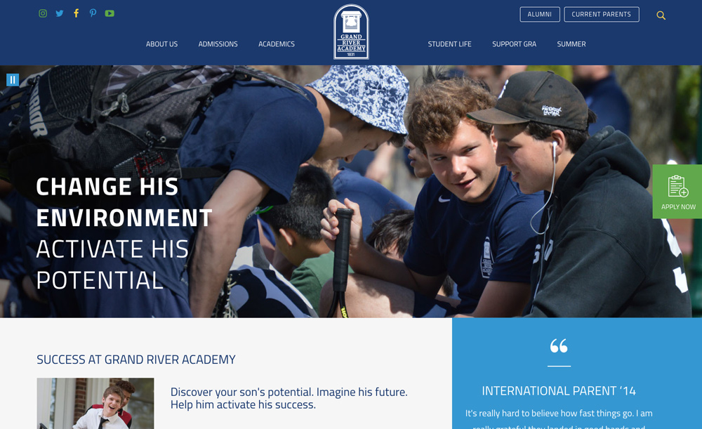 Grand River Academy Homepage