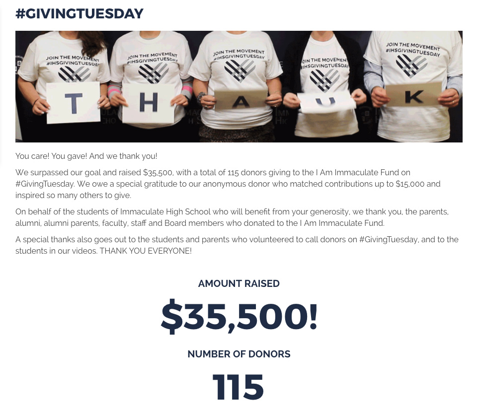 IHS - GivingTuesday