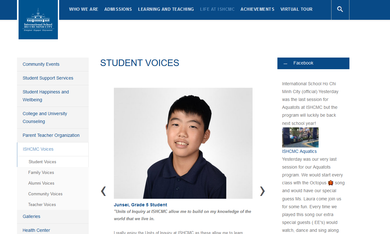 ISHCMC Student Voices