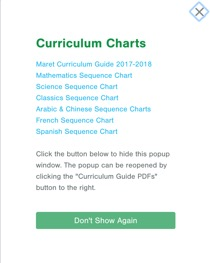 Maret School Curriculum Charts Page Pops