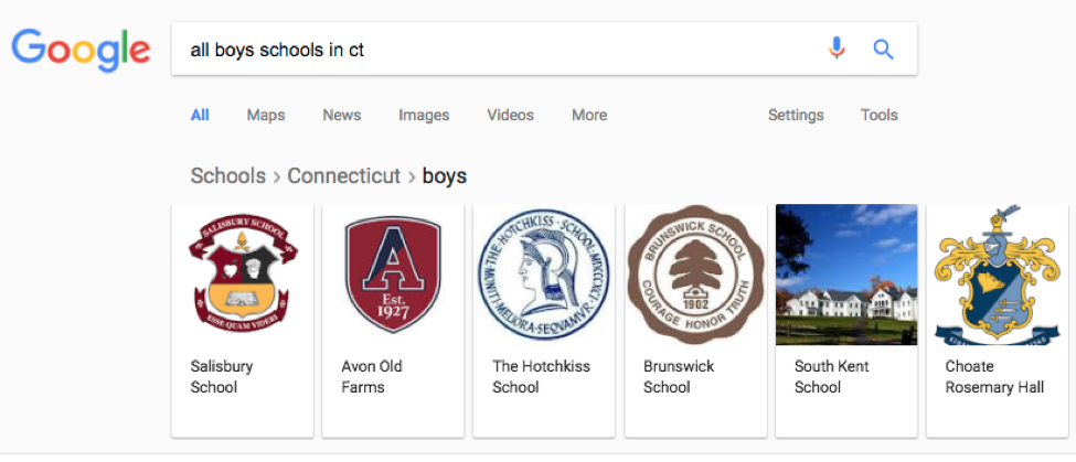 All Boys School in CT Google Search