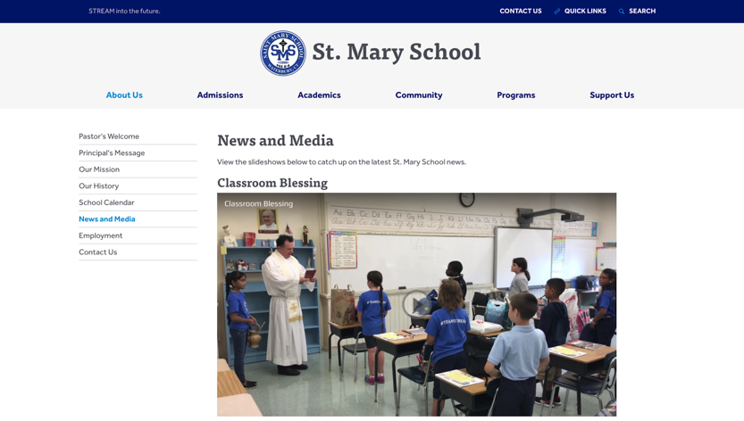 St. Mary School News and Media Page