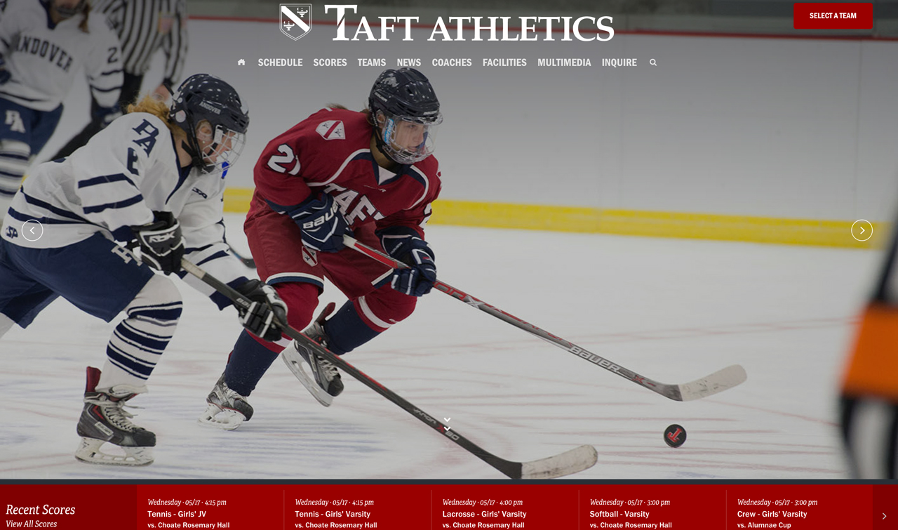 Taft Athletics Microsite