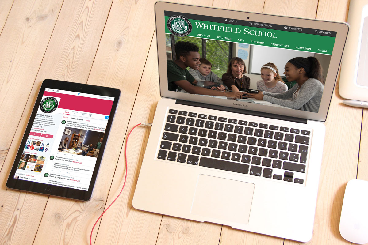 Whitfield School Homepage and Social Media