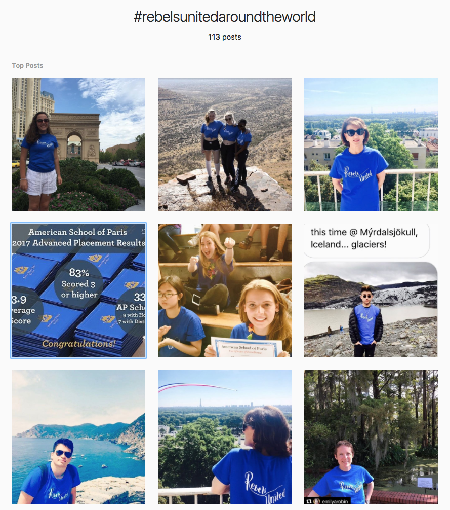 American School of Paris User-Generated Content on Instagram
