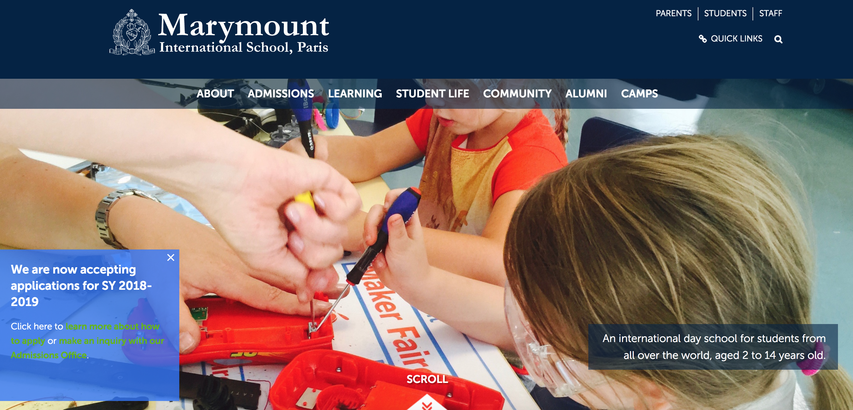 Marymount Homepage