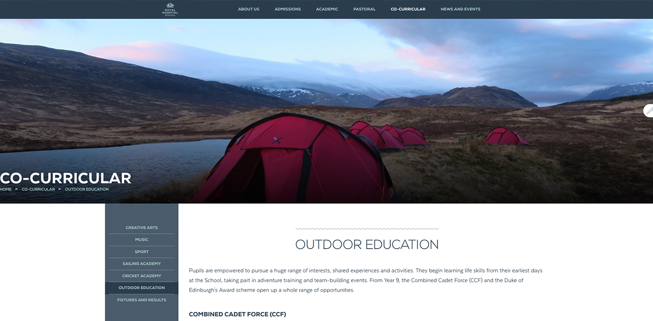 Outdoor Education - Royal Hospital School