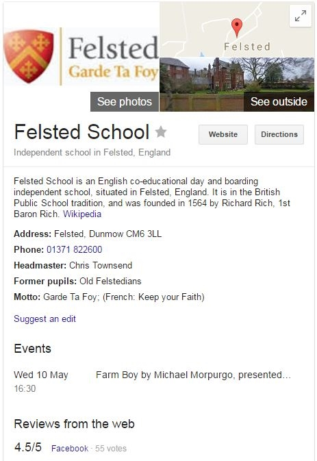 Felsted School Knowledge Panel